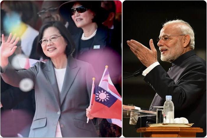 India and Taiwan comes closer on the global stage.