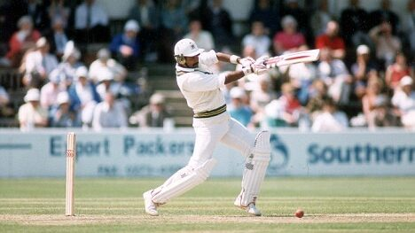 Javed Miandad of Pakistan scored a century in his 100th test against India.