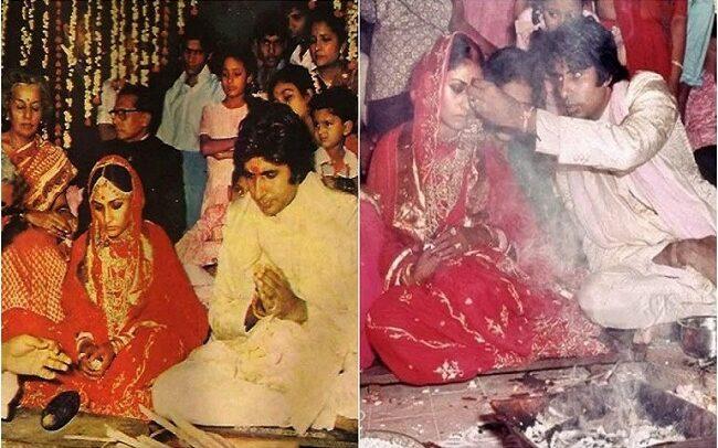 Bollywood great actor Amitabh Bachchan married Jaya Bachchan on 3 June 1973.